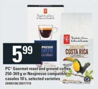 PC Gourmet Roast And Ground Coffee 250-369 g Or Nespresso Compatible Casules 10's