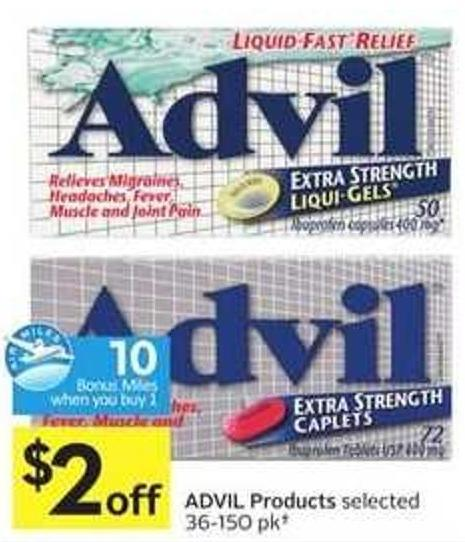 Advil Products - 10 Air Miles Bonus Miles