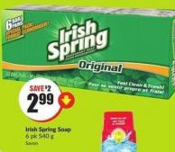 Irish Spring Soap 6 Pk 540 g