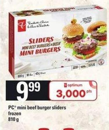 PC Mini Beef Burger Sliders - 810 G