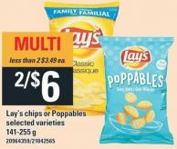 Lay's Chips Or Poppables - 141-255 g