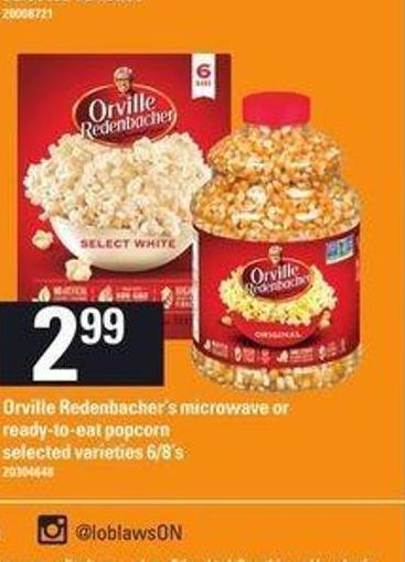 Orville Redenbacher's Microwave Or Ready-to-eat Popcorn - 6/8's