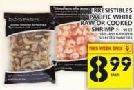 Irresistibles Pacific White Raw Or Cooked Shrimp
