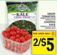 Grape Tomatoes Or Chopped Kale