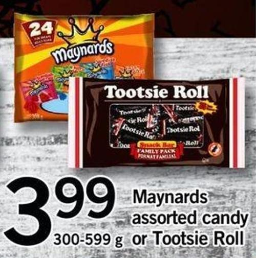 Maynards Assorted Candy Or Tootsie Roll - 300-599 G