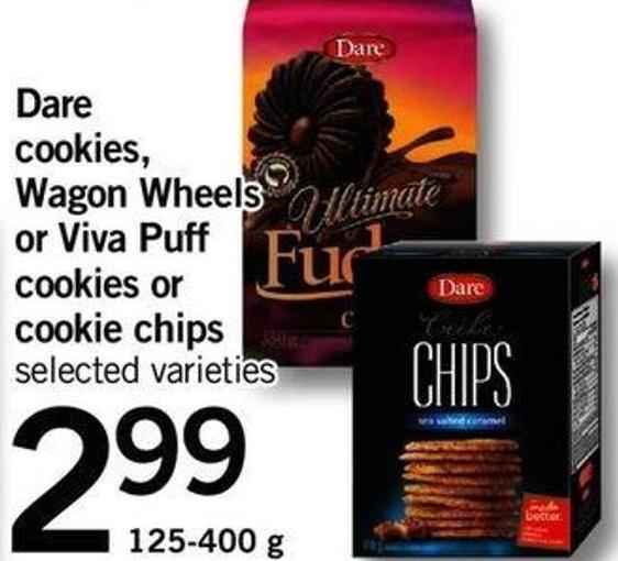 Dare Cookies - Wagon Wheels Or Viva Puff Cookies Or Cookie Chips - 125-400 G
