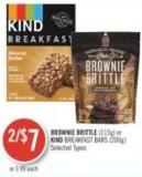 Brownie Brittle (113g) or Kind Breakfast Bars (200g)