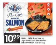 High Liner Pan-sear or Signature Cuts Breaded or Battered Fish