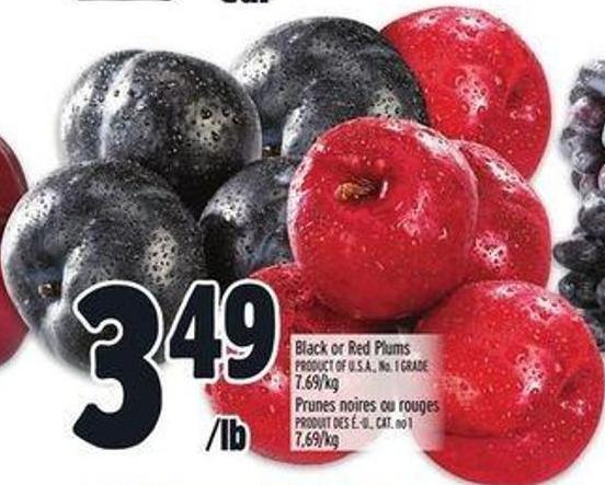 Black Or Red Plums