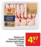 Maple Leaf Fresh Air-chilled Chicken Split Wings