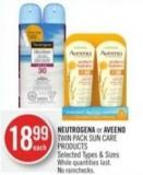 Neutrogena or Aveeno Twin Pack Sun Care Products