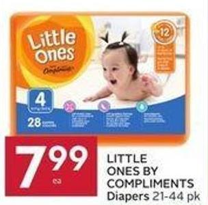 Little Ones By Compliments Diapers 21-44 Pk