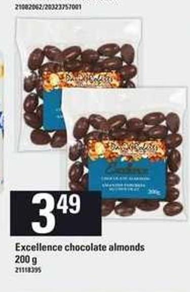 Excellence Chocolate Almonds - 200 g