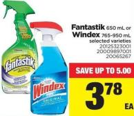 Fantastik - 650 Ml Or Windex - 765-950 Ml