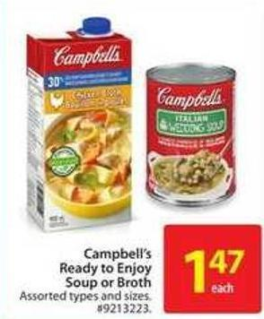 Campbell's Ready To Enjoy Soup or Broth