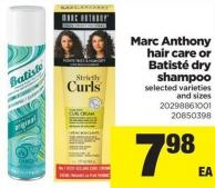 Marc Anthony Hair Care Or Batisté Dry Shampoo
