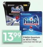Finish Quantum or All In 1 Max Selected 40-60 Pk