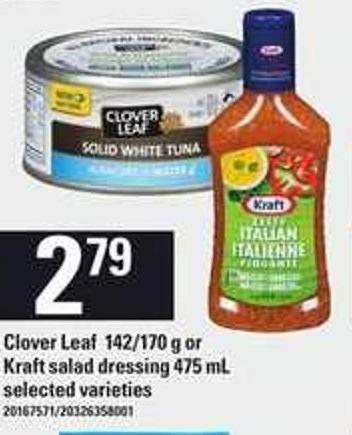 Clover Leaf - 142/170 G Or Kraft Salad Dressing - 475 Ml