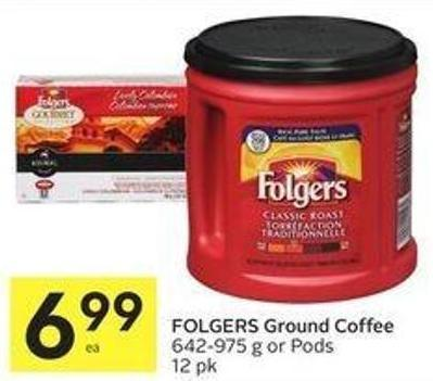 Folgers Ground Coffee 642-975 g or Pods 12 Pk