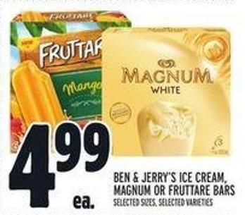 Ben & Jerry's Ice Cream - Magnum Or Fruttare Bars