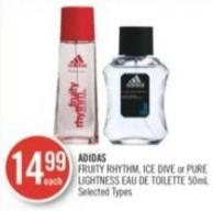 Adidas Fruity Rhythm - Ice Dive or Pure Lightness Eau De Toilette 50ml