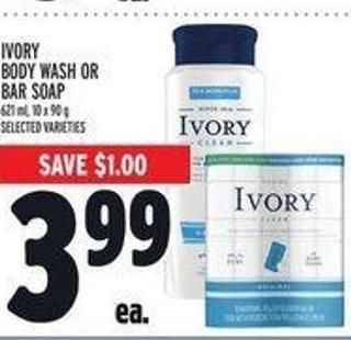 Ivory Body Wash Or Bar Soap
