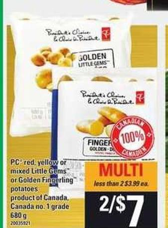 PC Red - Yellow Or Mixed Little Gems Or Golden Fingerling Potatoes - 680 g