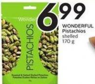 Wonderful Pistachios Shelled 170 g