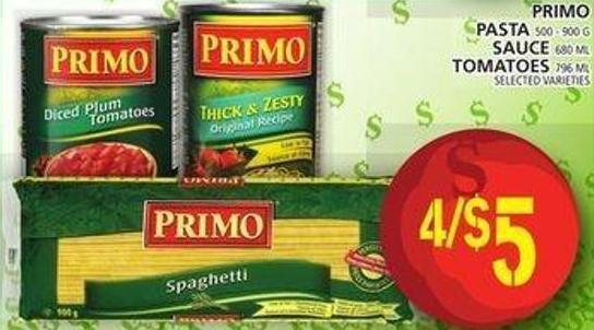 Primo Pasta Or Sauce Or Tomatoes