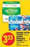 Danone Activia Yogurt - 8x100 G Or Danino Drinkable Yogurt - 8x93 Ml