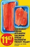 Seaquest Fresh Atlantic Salmon Steak Or Rainbow Trout Fillet