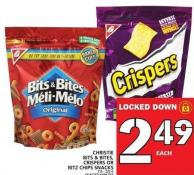 Christie Bits & Bites - Crispers Or Ritz Chips Snacks