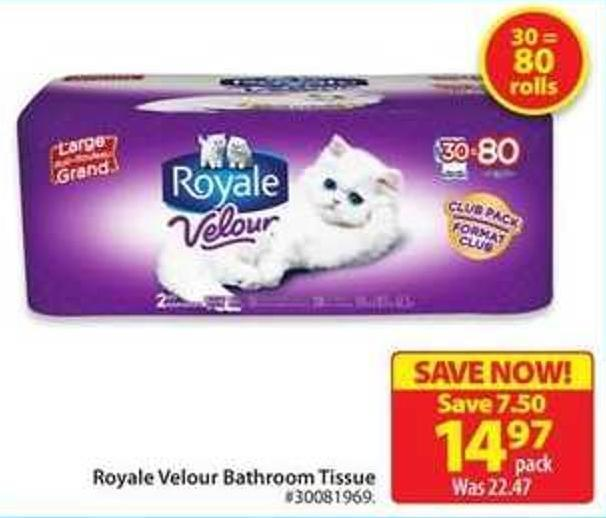 Royale Velour Bathroom Tissue