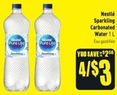 Nestlé Sparkling Carbonated Water 1 L