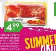 Compliments Naturally Smoked Bacon