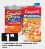 Campbell's Broth - 900 Ml Or Ready To Eat Soup - 540 Ml