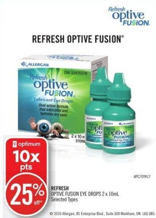 Refresh Optive Fusion Eye Drops