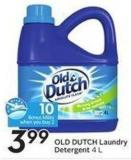 Old Dutch Laundry Detergent 4 L 10 Air Miles Bonus Miles