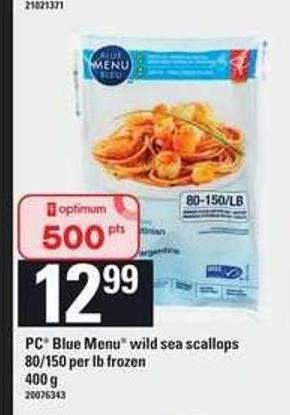 PC Blue Menu Wild Sea Scallops - 80/150 Per Lb - 400 g