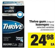 Thrive GUM - 2 Mg Or Lozenges - 1 Mg