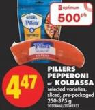 Pillers Pepperoni or Kolbassa - 250-375 g