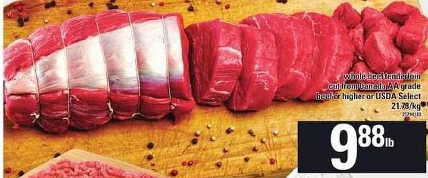 Whole Beef Tenderloin