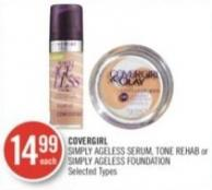 Covergirl Simply Ageless Serum - Tone Rehab or Simply Ageless Foundation