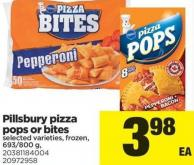 Pillsbury Pizza Pops Or Bites - 693-800 g