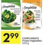 Compliments Frozen Vegetables 500 g