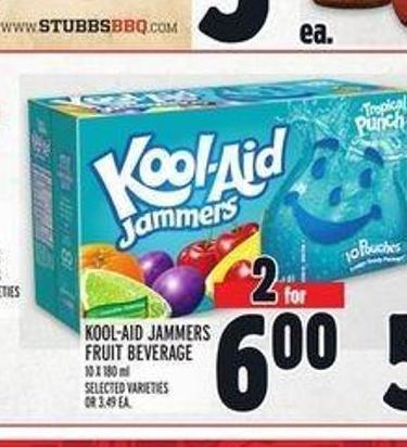 Kool-aid Jammers Fruit Beverage