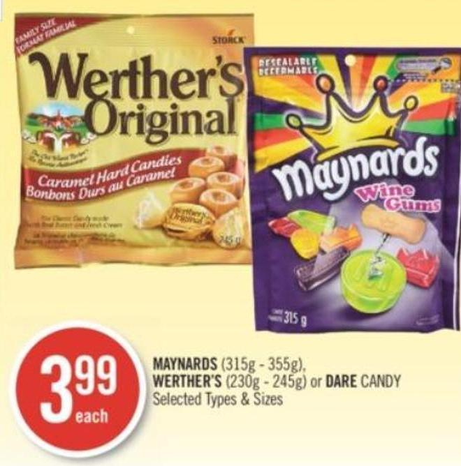 Maynards (315g - 355g) - Werther's (230g - 245g) or Dare Candy