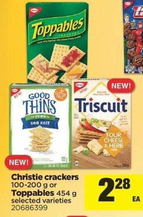 Christie Crackers 100-200 G Or Toppables 454 G