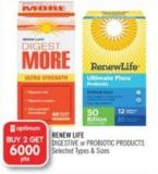 Renew Life Digestive or Probiotic Products