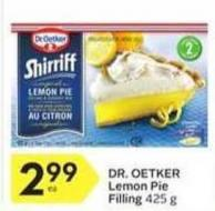 Dr. Oetker Lemon Pie Filling 425 g